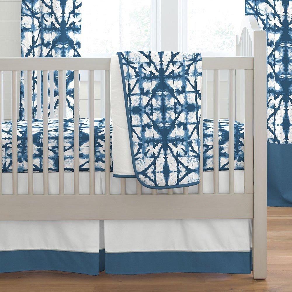 Carousel Designs Indigo Blue Shibori Crib Comforter