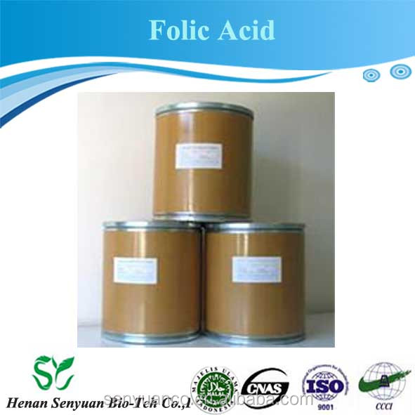 High qulity vitamin b9 raw materials folic acid CAS: 59-30-3 food grade