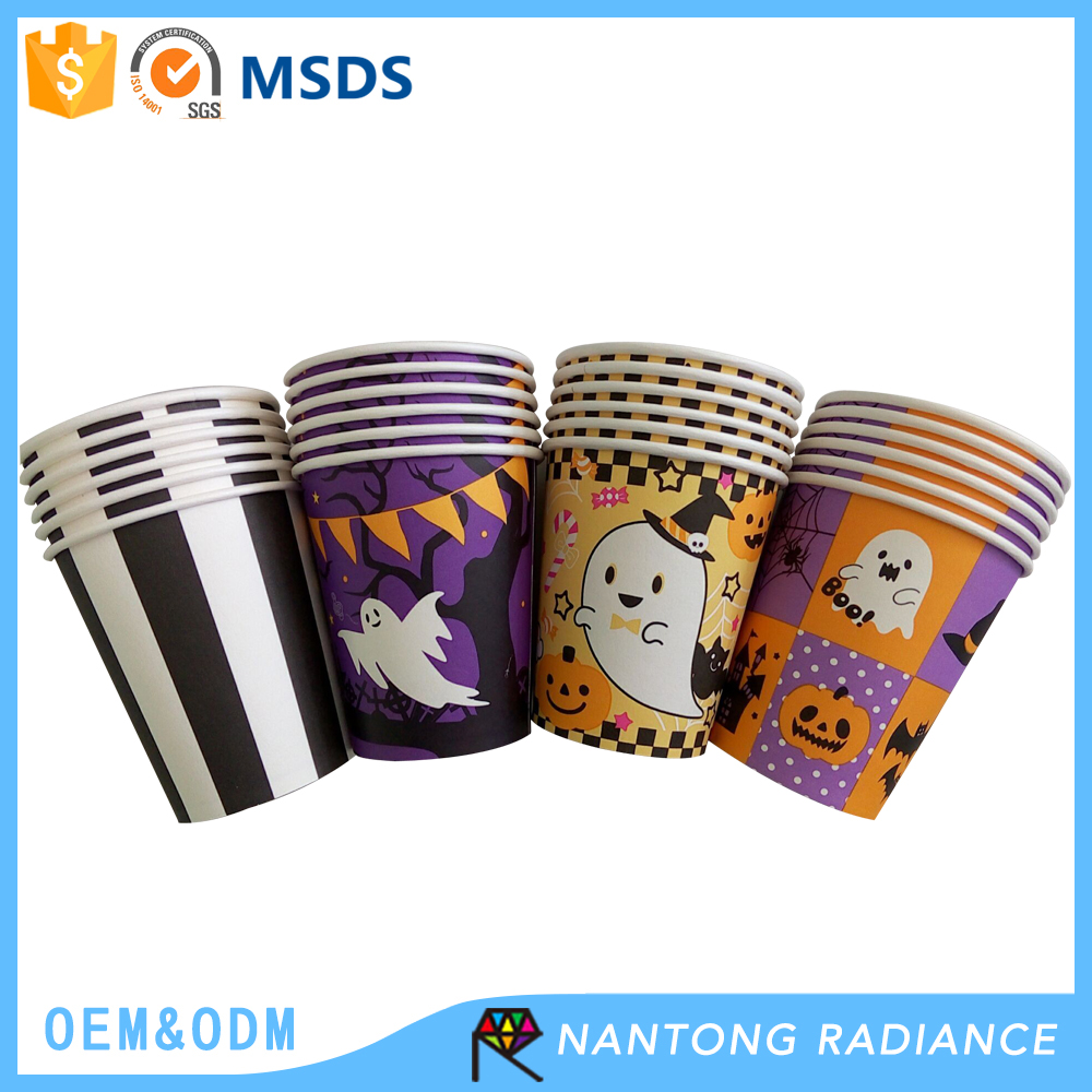 Wholesale Halloween printed paper cup disposable coffee cup