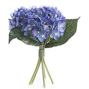 Factory Direct Craft Artificial Hues of Spring Periwinkle Hydrangea Bouquet for Crafting, Creating and Embellishing