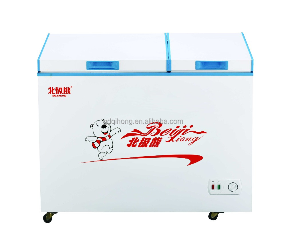 Hot Selling!BCD-212DQ DOUBLE CHAMBER FREEZER FOR COMMERCIAL 172L 220V/50HZ 110V/60HZ