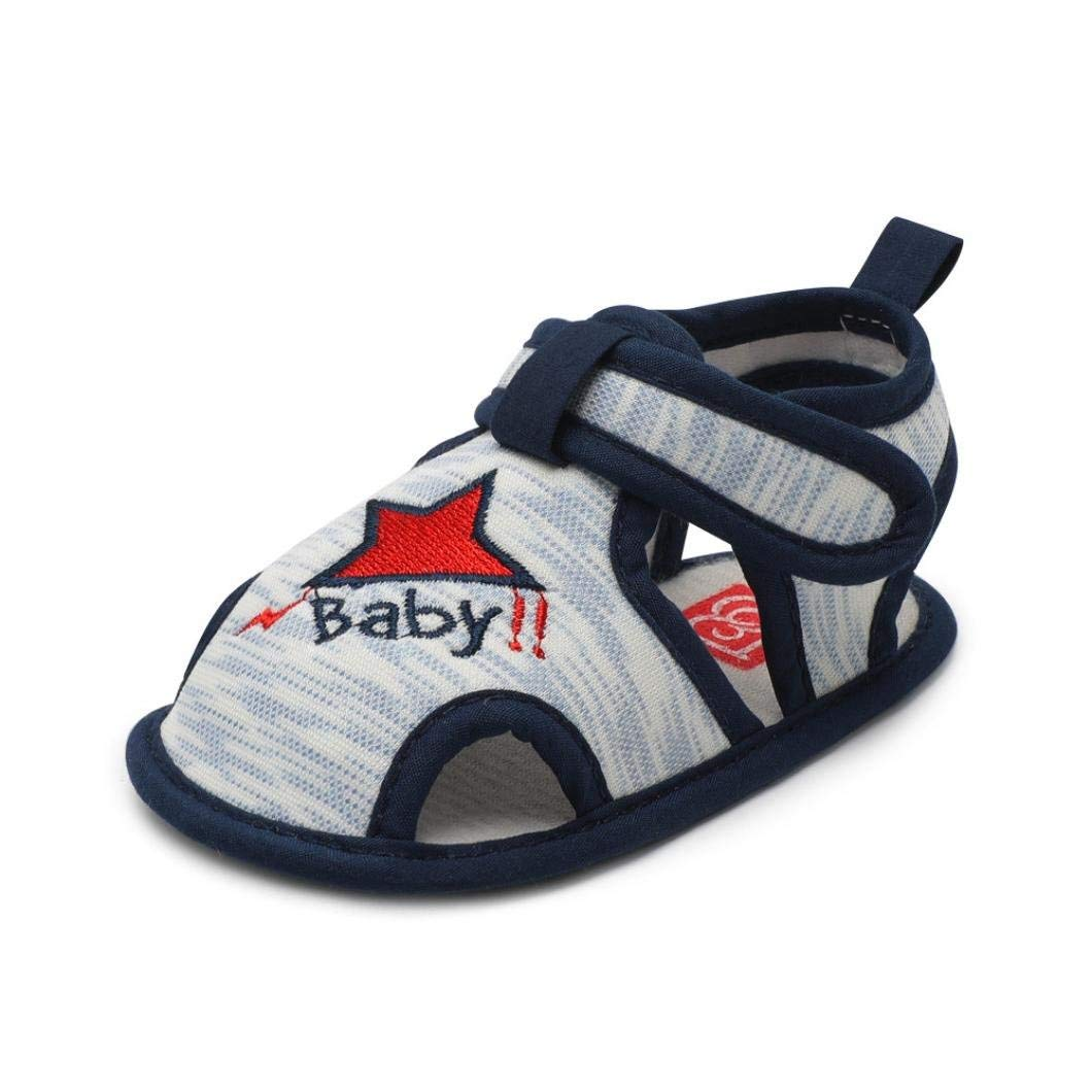 Dainzuy Baby Shoes ,Infant Baby Boys Girls Rubber Soft Sole Anti-Slip Summer Sandals First Walkers