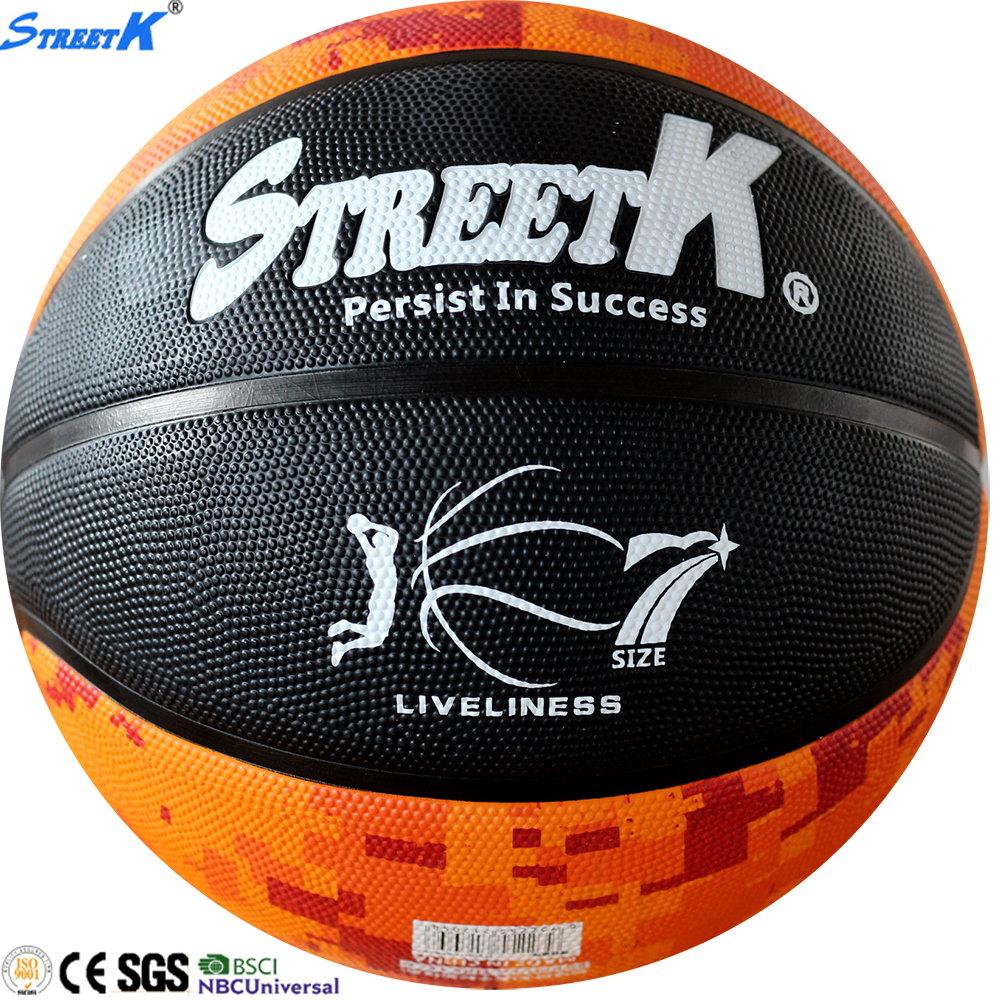 streetk brand cheap rubber basketball balls wholesale basketball