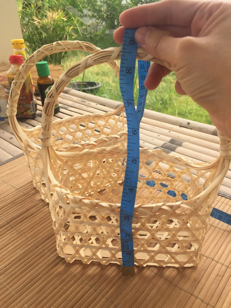 Old Handmade Baskets : Handmade vintage woven bamboo baskets with handle buy