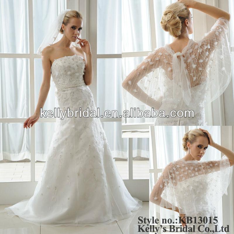 Matching Lace Veil And Bolero Bridal Gown Wedding Dress - Buy Bridal ...