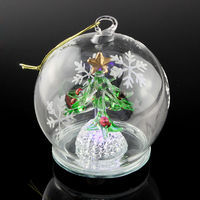 Classic Hand Painted Glass Christmas Ornament high quality beautiful glass ball