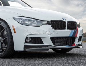 V Style Real Carbon Fiber Front Spoiler For BMW 3-Series F30 M-Tech M-Sport Bumper 2012UP B186
