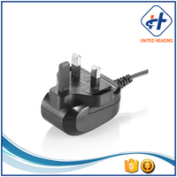 safety certificated ac dc 9v 100ma type plug power adapter