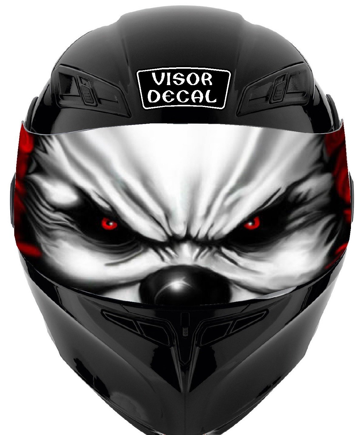 bfbd8644 V14 Evil Clown VISOR TINT DECAL Graphic Sticker Helmet Fits: Icon Shoei  Bell HJC Oneal
