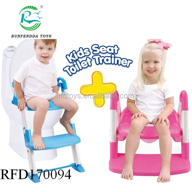 3 in 1 Potty Training Seat For Boys Girls Potty Seat With Sturdy Non-Slip Ladder, Toilet Seat Reducer & Portable Potty