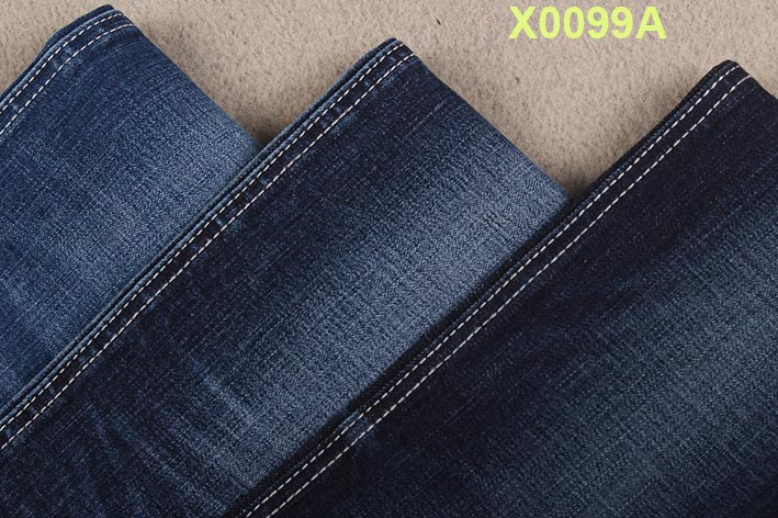 recycle cheap price factory mid weight blue spandex cotton slub stretch denim fabric for men/women jeans