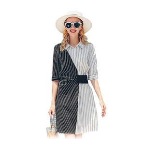 BK-3 korean style sample women ladies smart casual summer long sleeve cotton chiffon dresses latest business office pencil dress