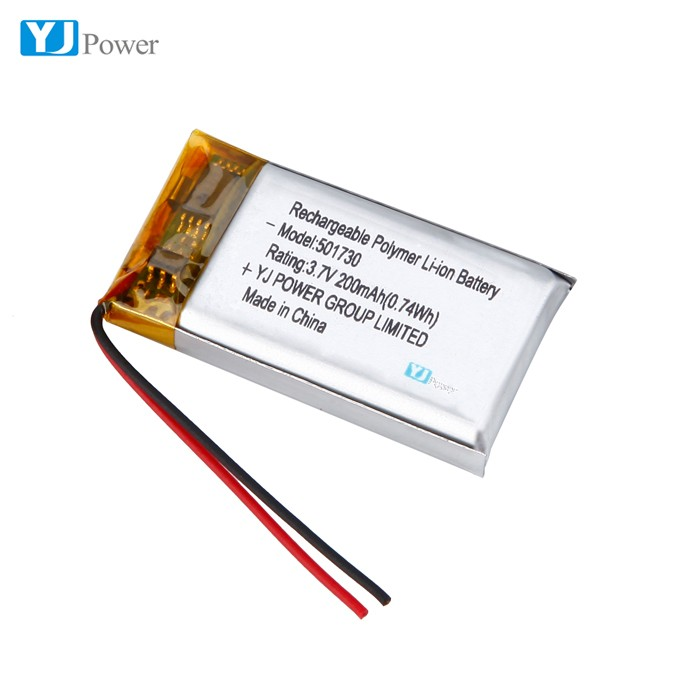 High Quality Li ion Battery Cell 501730 200mah Lithium ion Polymer Battery Cell for Electric Toy