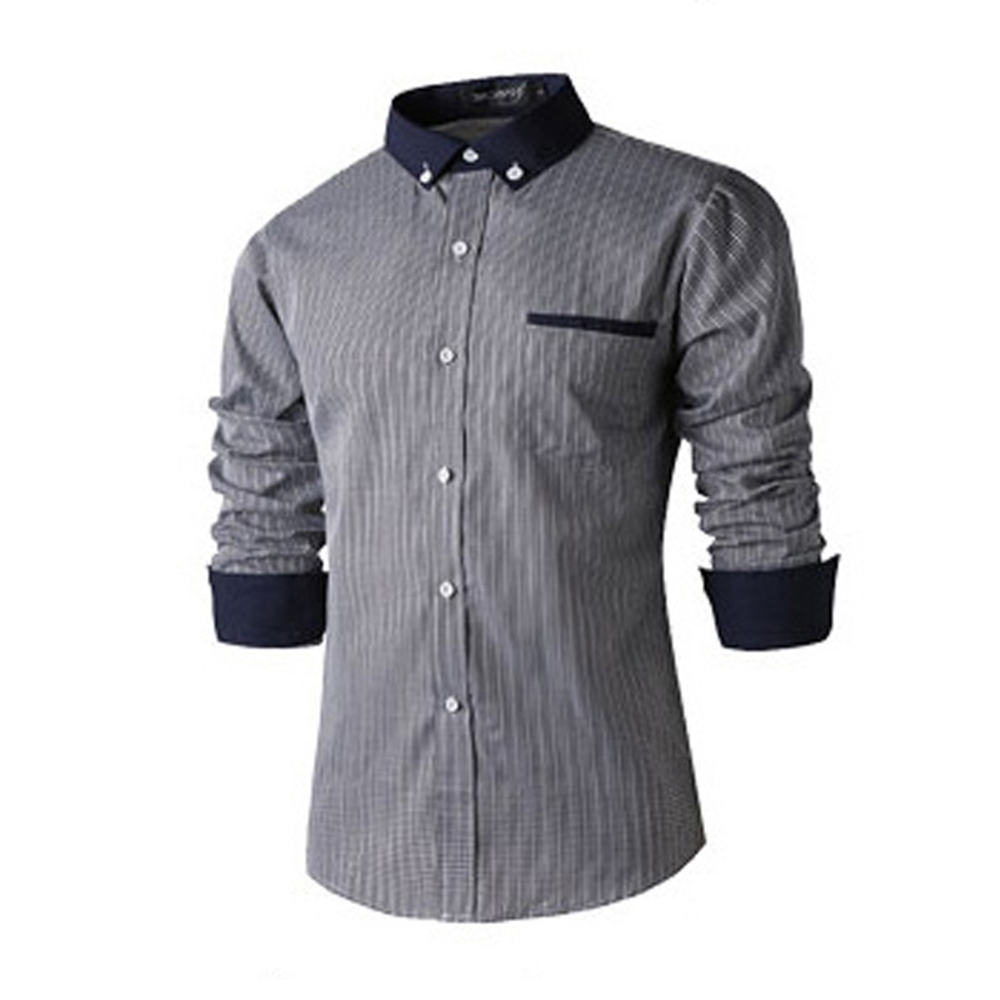 LOKOUO Fashion Shirt Beautiful Flowers Printing Casual Long-sleeved Shirts Slim Fit Asian size
