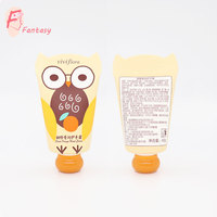 fashion design cute 30ml 40ml owl shape bottom collapsible hand cream tube with sphere shape cap