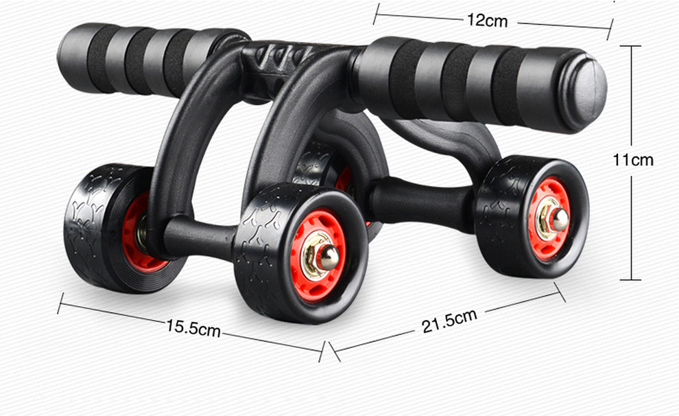 4 Wheels Abdominal Roller with Non Skid Wheels for Better Balance in Workout to Reduce Belly Fat 12