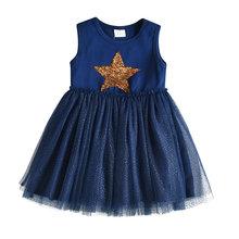 Платье-пачка для девочек VIKITA, с единорогом, из хлопка, для детей ясельного возраста, детские, вечерние, летние платья для девочек(Китай)