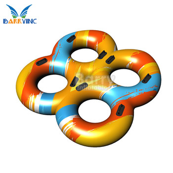 River Water Park Commercial Water Slide 4 Man Water Tube Suppliers