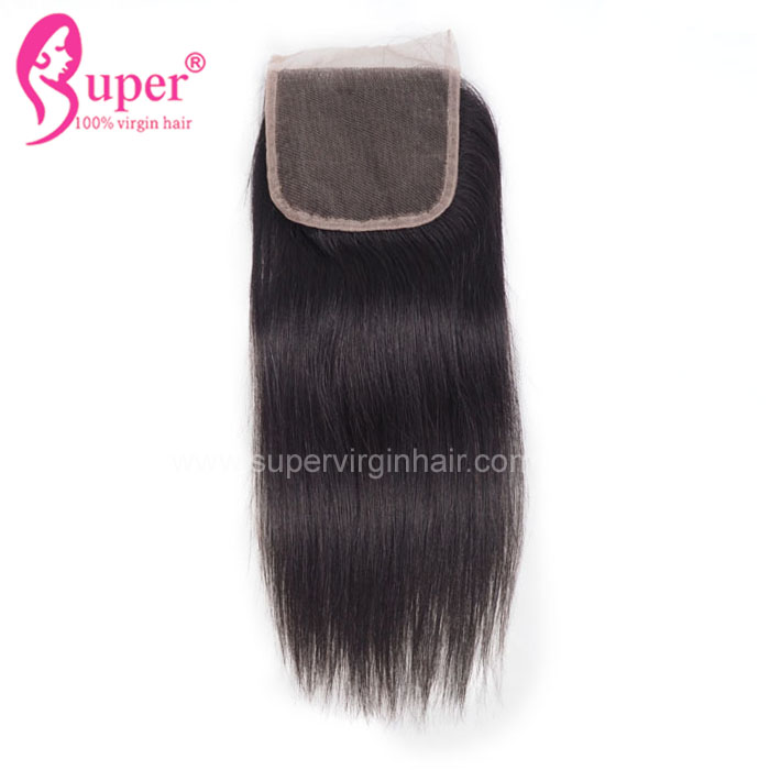4*4 Swiss Lace Water Wave Closure, Fast Shipping Unprocessed Peruvian Human Raw Hair Extension Top Quality Good Hair  Closure