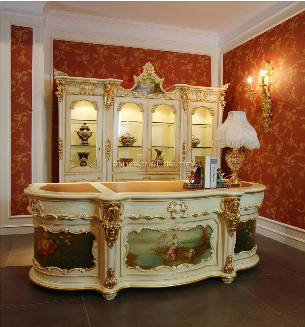Luxe Franse Rococo Stijl Klassieke Bureau Antiek Paleis