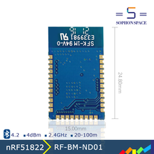 Nordic Semiconductor nRF51822 SoC BT 4.2/5.0 rf module RF-BM-ND01 bluetooth low energy transmitter