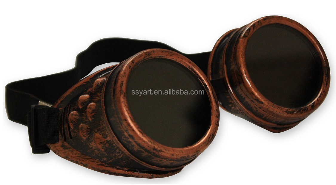 Brass Yarizm Steampunk Goggles Rustic Copper Vintage Goggle Cyber Welding Goth Cosplay Glasses