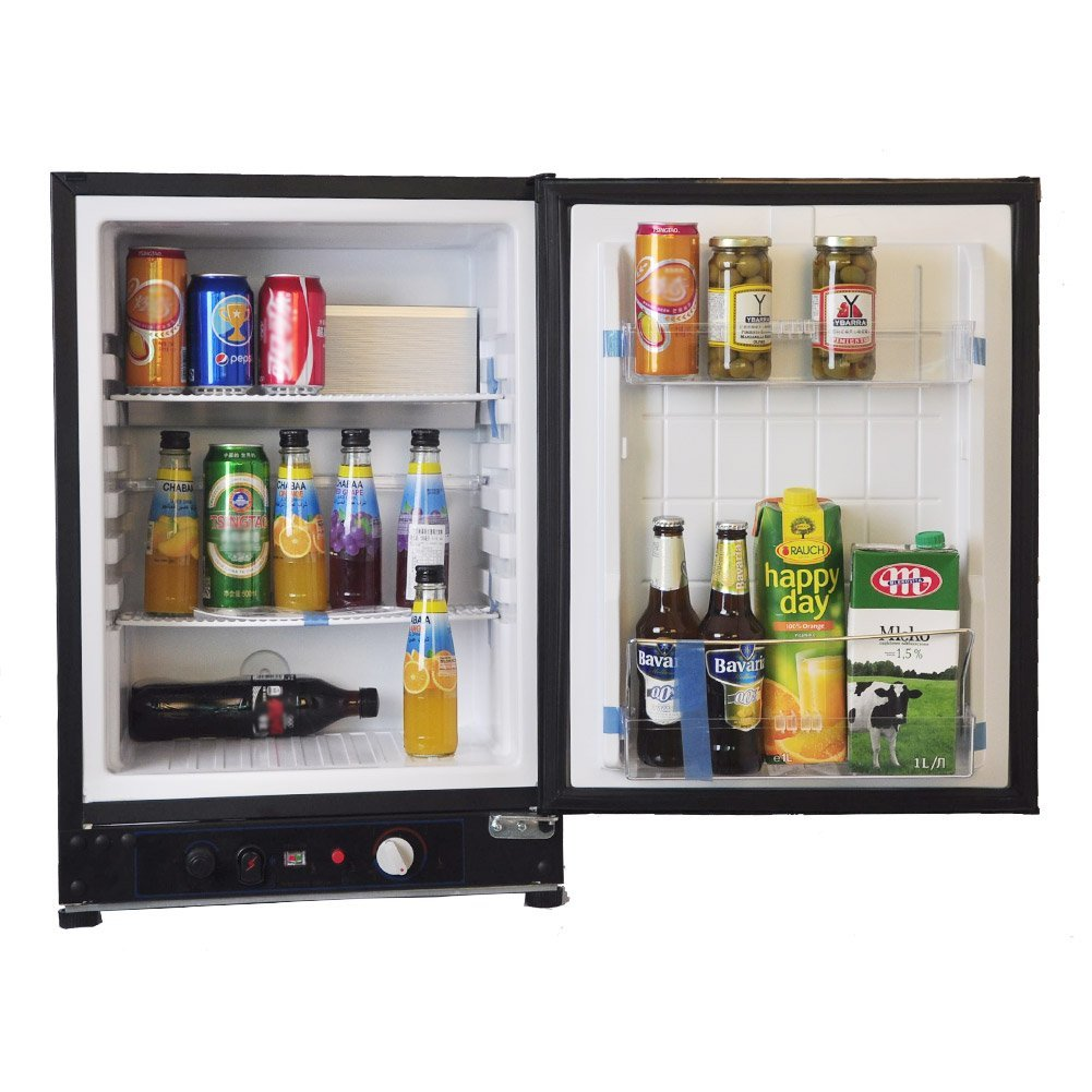 Smad AC/DC/LPG Compact Refrigerator with Gas Thermostat,2.1 Cu.ft,Black