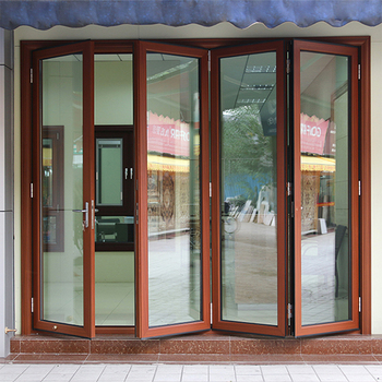 Rogenilan 75 Series Clear Glass Exterior Metal French Bi Fold Doors