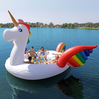 Giant Rainbow Inflatable Unicorn Pool Float Gigantic inflatable Party Bird Island