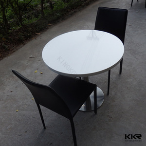 Modern design new round artificial marble top kitchen dinner table