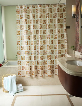 Classic Waterrepellent Printed Pvc Clear Vinyl Shower Curtain