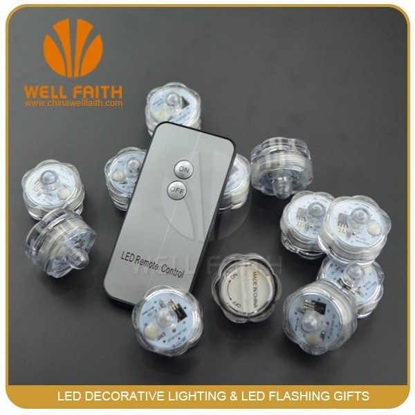 afstandsbediening waterdicht submersible mini decoratieve thee licht kaars