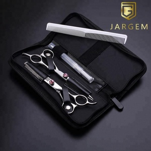 "Hair scissors professional barber scissors set 6.0"" hairdressing scissors with diamond screw"
