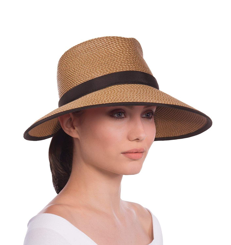 ece2f0c22e1cd Get Quotations · Eric Javits Luxury Fashion Designer Women s Headwear Hat -  Sun Crest - Natural Black
