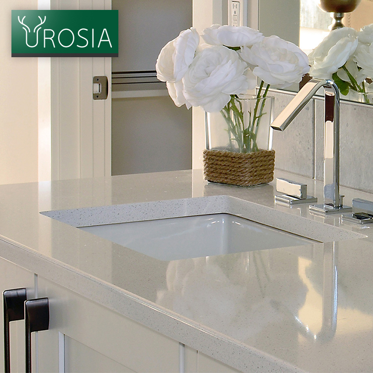 use for Countertops or floor tiles in the kitchen or bathroom absolute super white artificial quartz stone tile
