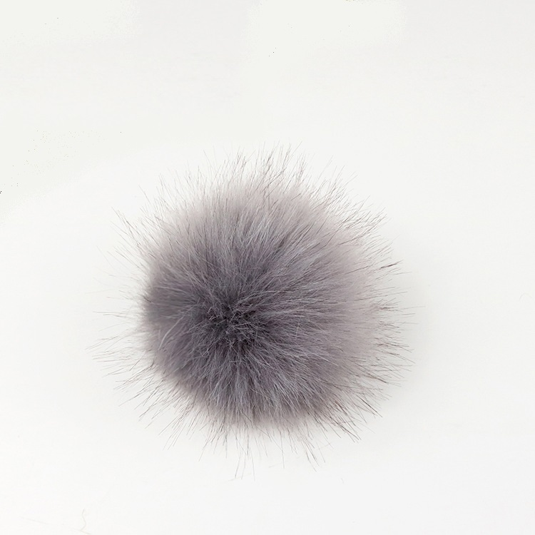 8cm High quality Low price Fake faux <strong>fur</strong> pom poms <strong>ball</strong> with snap for shoes