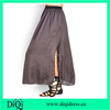 women solid color satin maxi skirt long slit skirts for girls