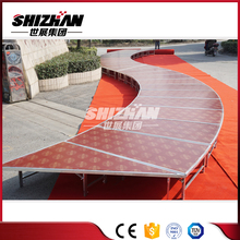 Cheap price stage performance equipment/outdoor stage roof design/used stage set for sale