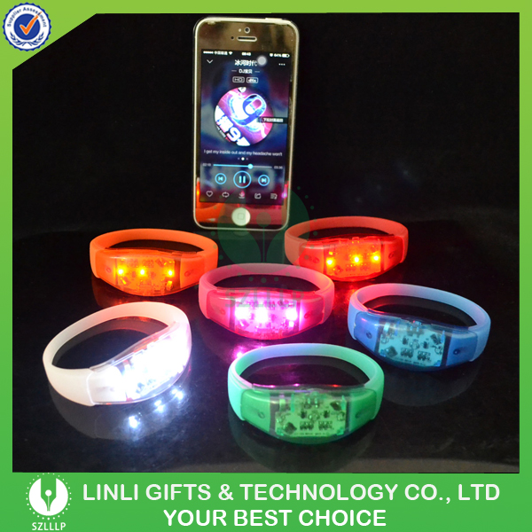 Giveaways Silicone MP3 Player Light up Bracelet