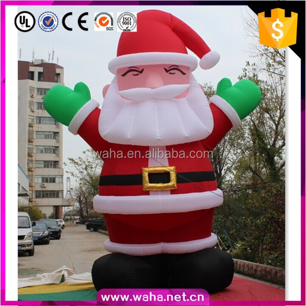 Outdoor decoration ft inflatable led santa claus figures