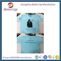 cheapest custom 100% polyester Nigeria election round neck t shirt