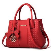 China factory hot selling pu leather women's branded handbag
