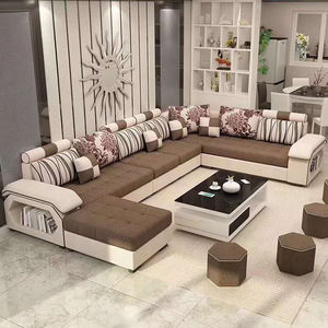 Modern Furniture Living Room L Shape 7 Seater Luxury Sofa
