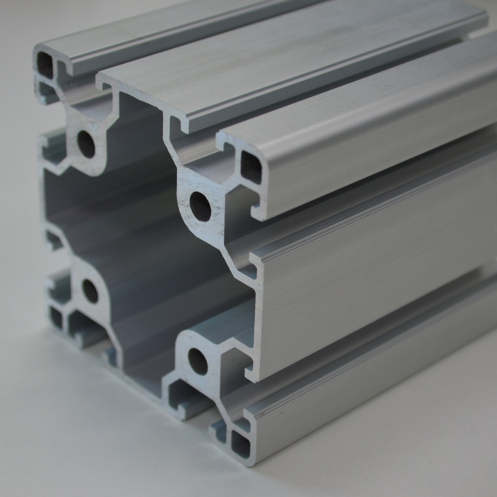 8080 Aluminum Profile Aluminium Alloy Sections T-Slotted Aluminum Extrusion
