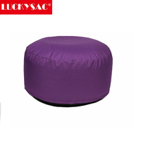 Amazon hotselling Purple Inflatable Children Plush Air Filled Cushion Stool Seat Chair Foot Rest Gift Toy