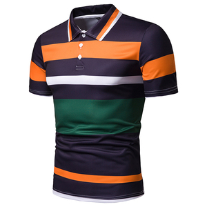 New Pattern Man Custom Polo Shirt Design Color Combination Polo T Shirt Factory Cheap Price