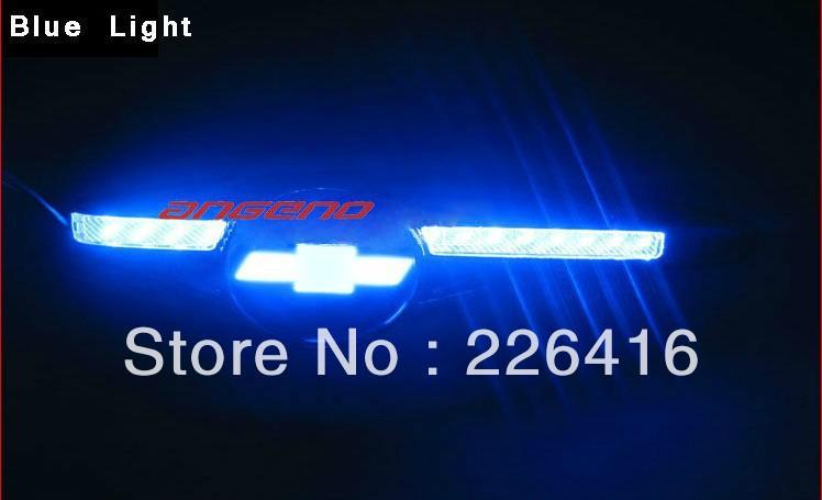 3D синий из светодиодов автоматический переоборудование поворота ( автомобиль logo отображается ) для Chevrolet cruze, Малибу, Captiva, Авео