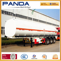 High quality 3 axles crude oil tank semi trailer, 40 CBM crude oil tanker for sale