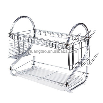 2 Tier Kitchen Water Sink Dish Drainer/industrial Dish Drying Rack Made In  China