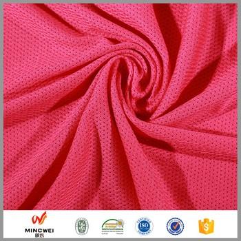 Good Material Mesh 100 Polyester Bird Eye Fabric For Moisture Wicking